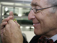 Dr. Eric Chivian with tree frog