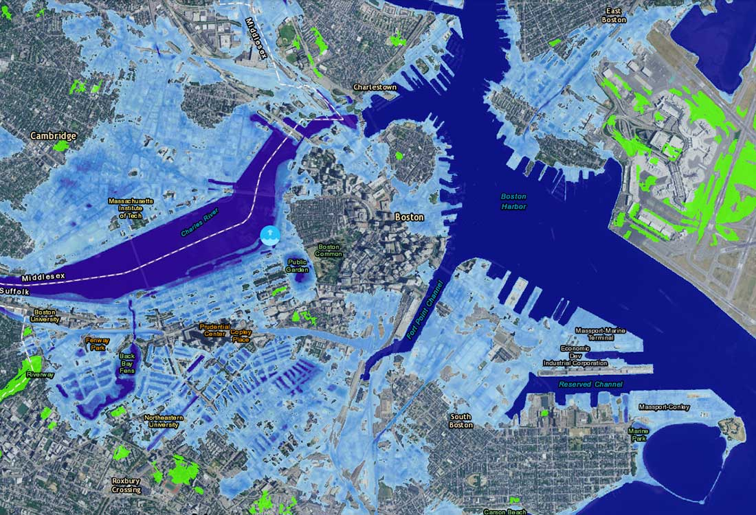 Effects of climate change on oceans sea levels noaa sea level rise viewer projections for boston noaa gumiabroncs Image collections
