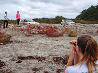 Students using spotting scope © Plum Island Ecosystems LTER