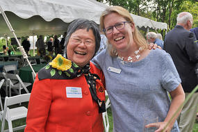 Board Chair at 2019 LF Garden Party