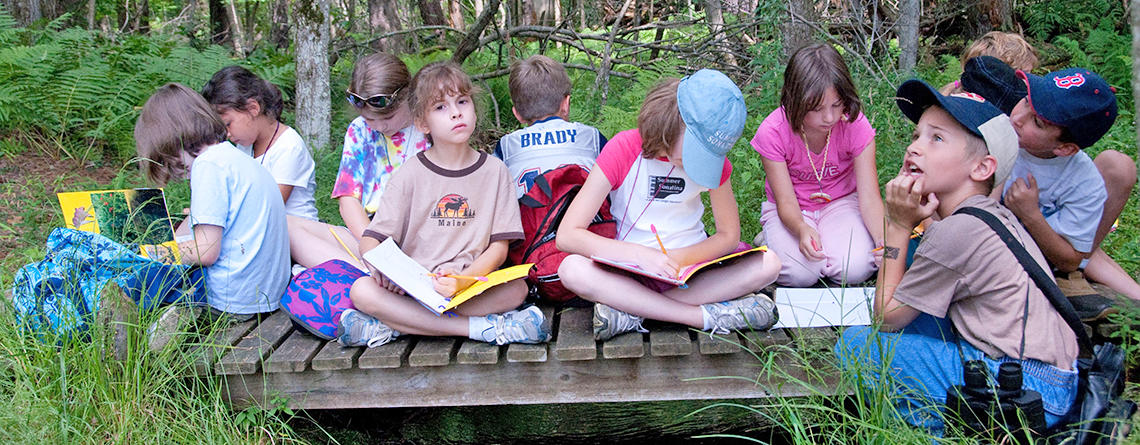 Group of students at Wachusett Meadow Wildlife Sanctuary © Gail Hansche Godin