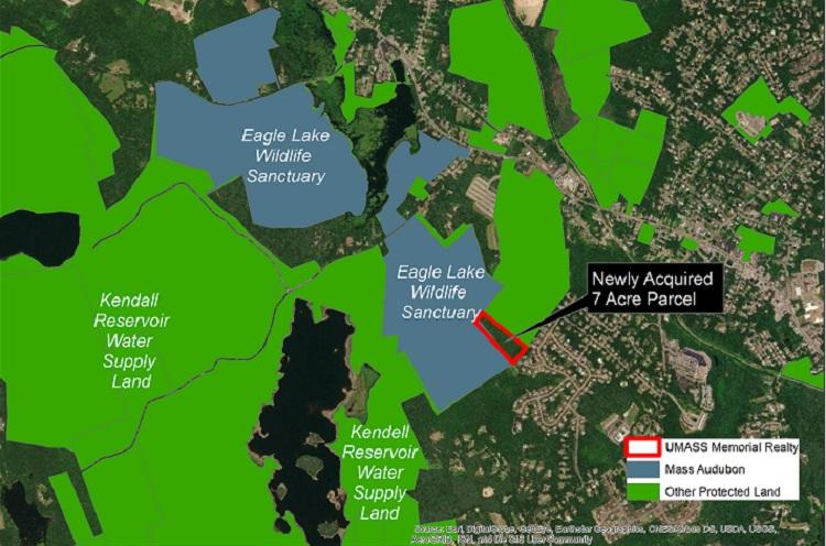 Map of 7-acre protected property Holden