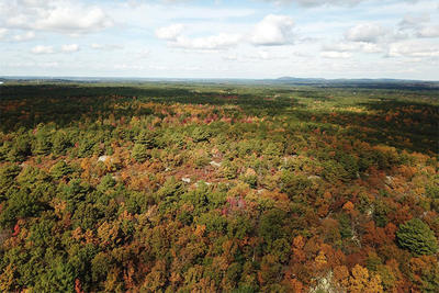 Aerial view of Rattlesnake Hill in Sharon © MPD