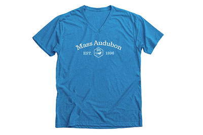 Limited-edition Mass Audubon 125th Anniversary shirt in blue