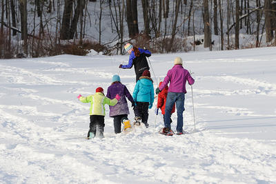 Group snowshoeing at Wachusett Meadow Wildlife Sanctuary © Gail Hansche Godin