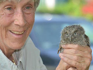 Marj Rines, volunteer at Mass Audubon © Joe Brown