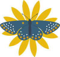 Flower Butterfly graphic