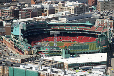 Aerial image of Fenway park