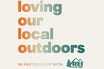 "REI ""Loving Our Local Outdoors"" logo"