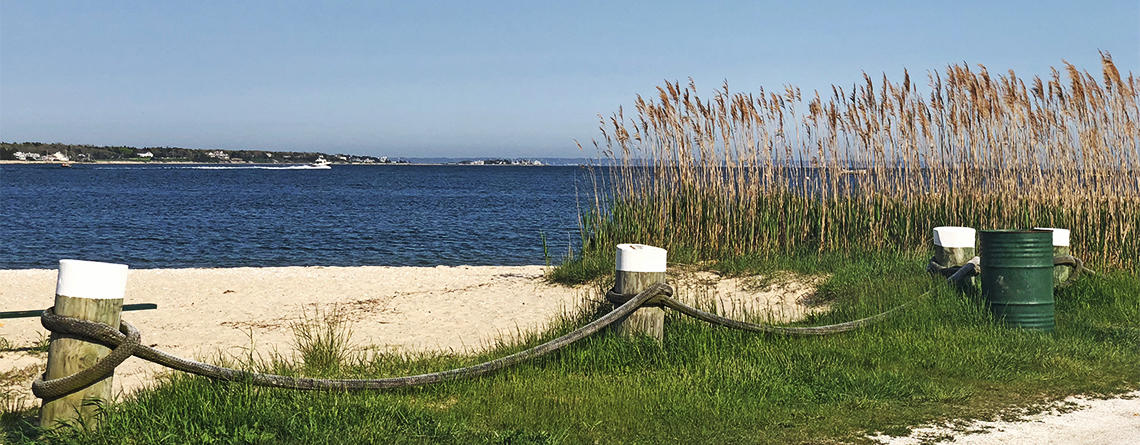 A beach in Marion, MA