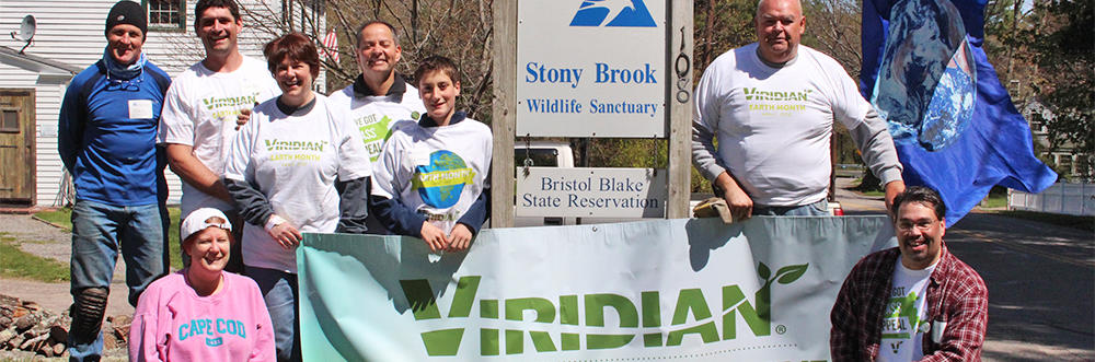 Group from Viridian volunteering at Stony Brook Wildlife Sanctuary