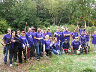 Vertex volunteers at Mass Audubon Habitat Education Center