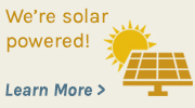 We're solar powered! button