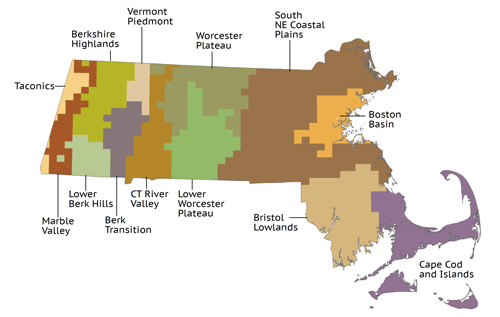Massachusetts Ecoregions Map