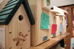 Birdhouses for sale at the Audubon Shop