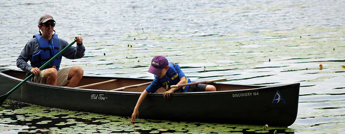 Canoe at Assabet River Camp