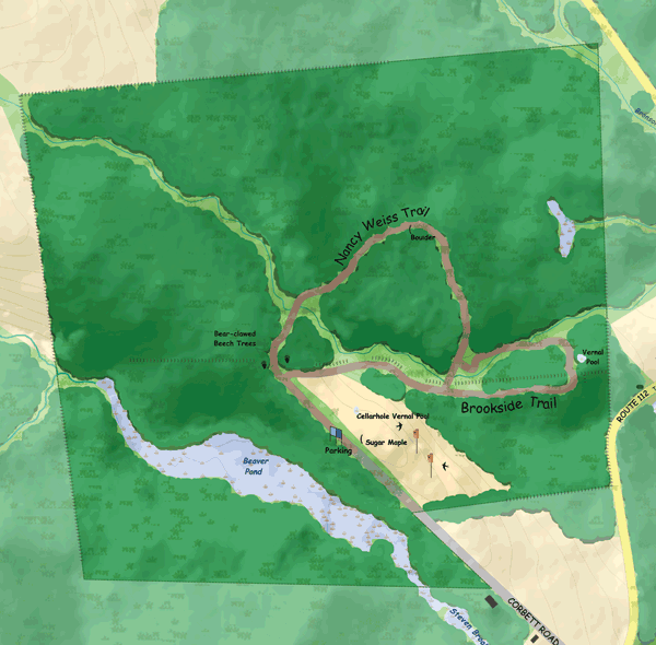 Road's End Wildlife Sanctuary Trail Map