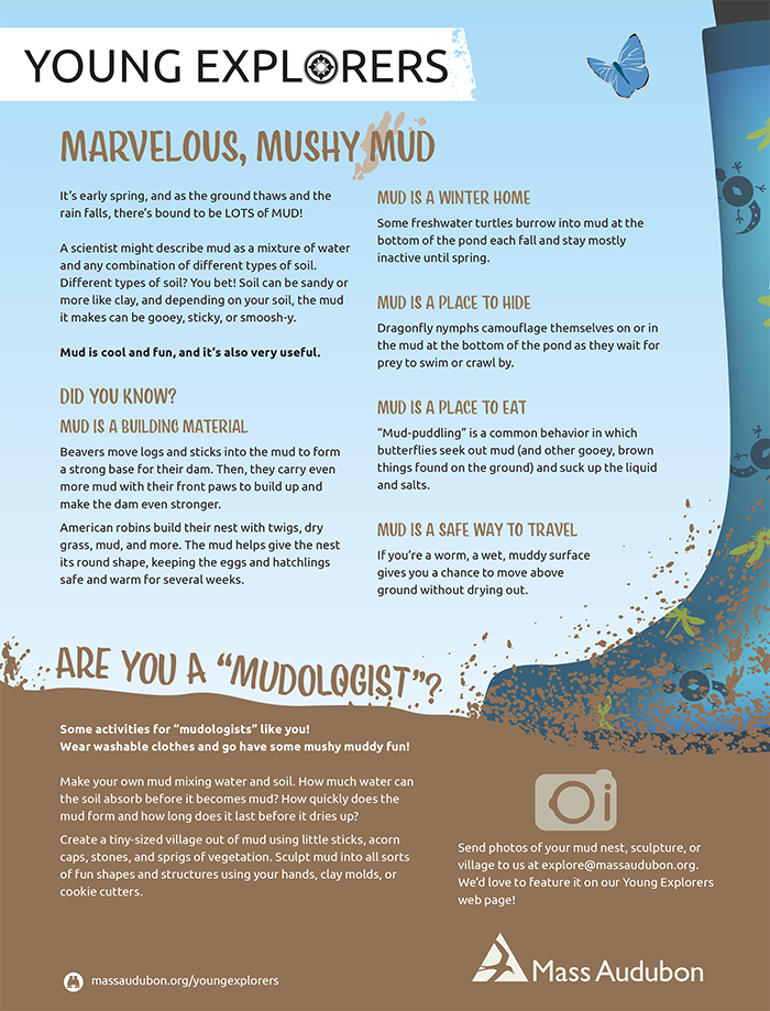 Young Explorers - Marvelous, Mushy Mud Activity Sheet