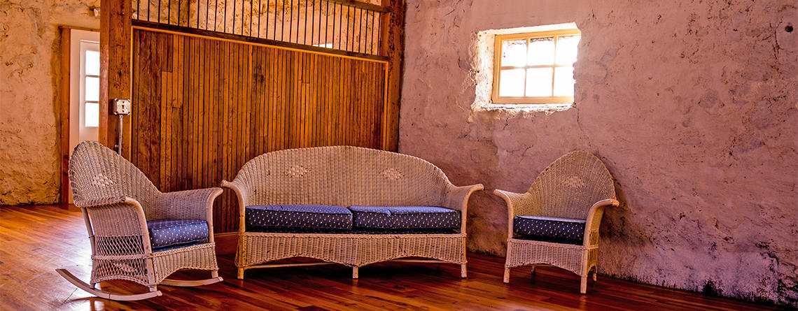 Cozy nook inside Stone Barn © Ed St. Germain