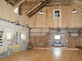 Interior of Stone Barn at Allens Pond Wildlife Sanctuary
