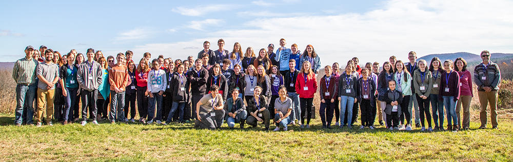 All participants of 2018 Arcadia Youth Climate Summit © Phil Doyle