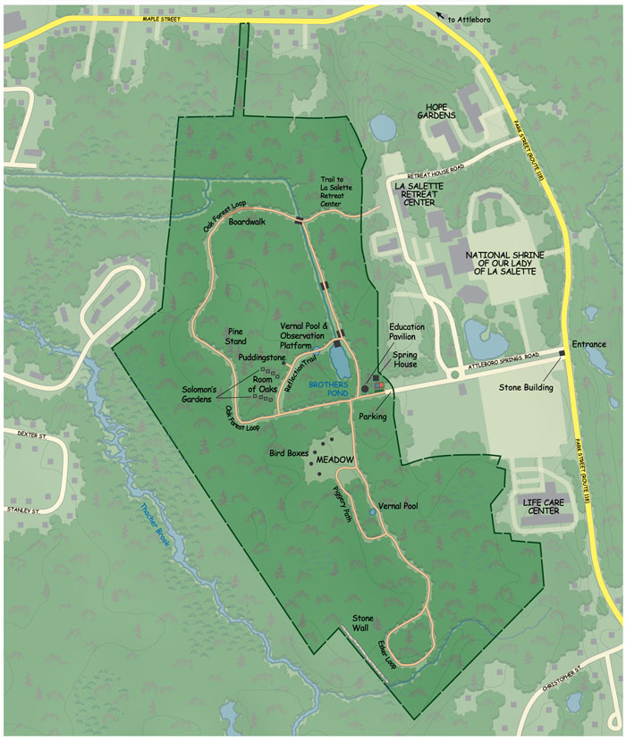 Attleboro Springs Trail Map