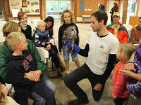An owl presentation at Blue Hills Trailside Museum.