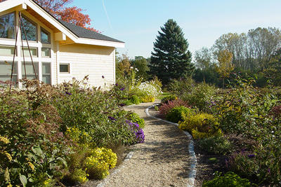 Butterfly garden accessible path