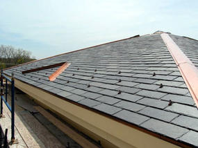 PV shingles on at The Boston Nature Center