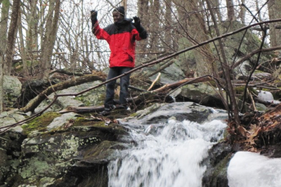 Student reaches top of BMB waterfall