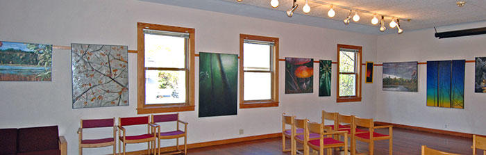 Exhibit space at Broadmoor Wildlife Sanctuary