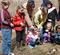 Homeschool group at Broadmoor Wildlife Sanctuary