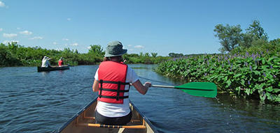 Summer canoeing at Broadmoor