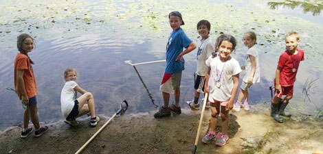 Campers at Assabet River