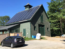 Green Barn solar array on roof
