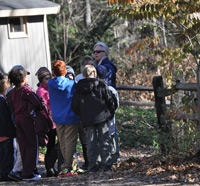 School group at Drumlin Farm Wildlife Sanctuary