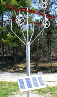 Solar kinetic sculpture at Drumlin Farm Wildlife Sanctuary