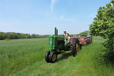 Summer hayride through field at Drumlin © Mary McDonough