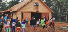 Education and Camp Barn in fall