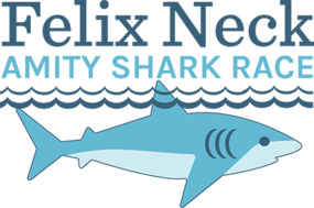 Felix Neck Amity Shark Race logo
