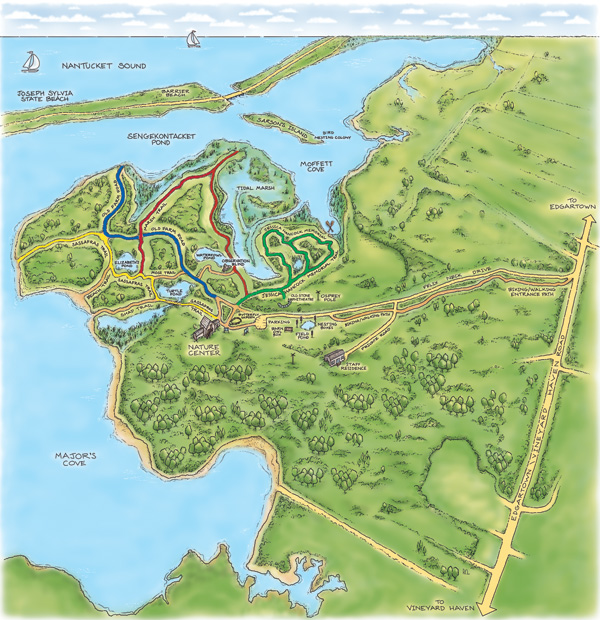 Felix Neck Trail Map