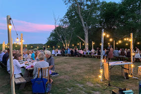 Sunset at Felix Neck's 2019 Sanctuary Supper