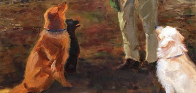 """Dogs 2"" oil painting © Anne Smith"