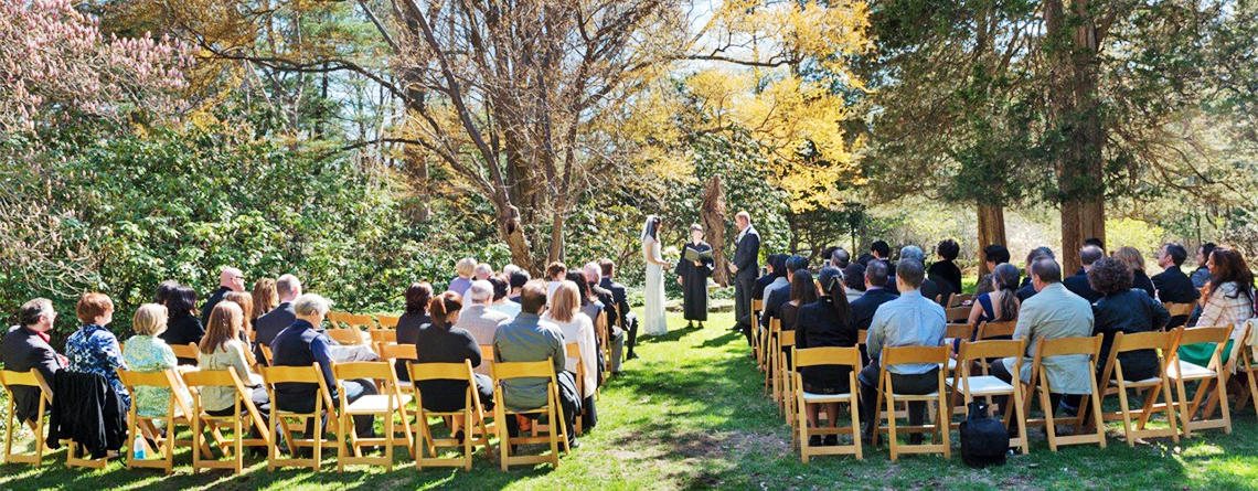 Outdoor wedding at Habitat Education Center © Anne Rearick