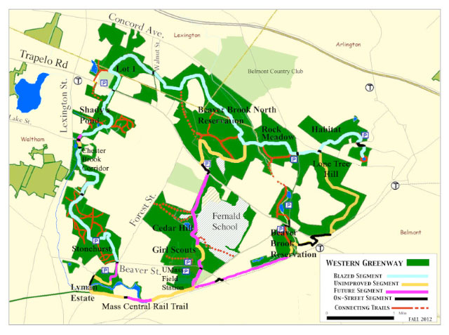 Western Greenway Project Map