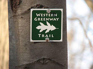 Western Greenway Trail Sign