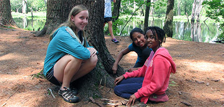 Campers at Ipswich River Wildlife Sanctuary