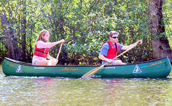 Canoeing on the Ipswich River