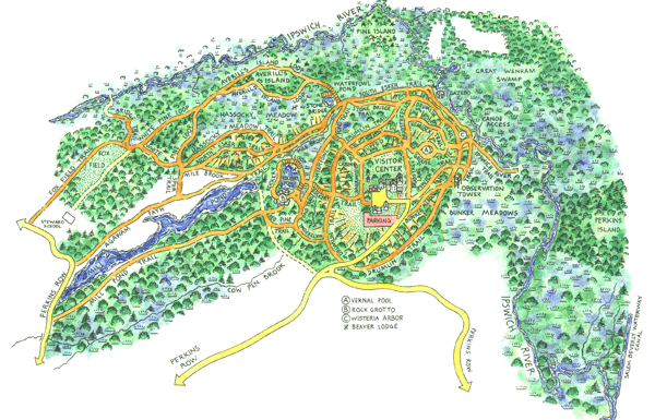 Ipswich River Trail Map
