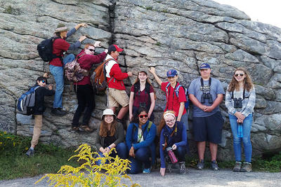 Teen Conservation Club members on excursion